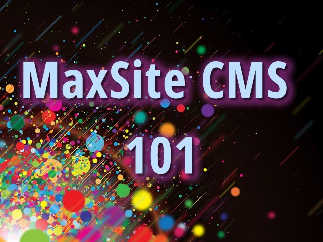 MaxSite CMS 101