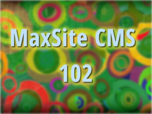 MaxSite CMS 102