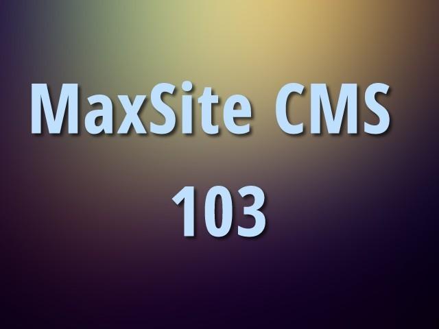 MaxSite CMS 103