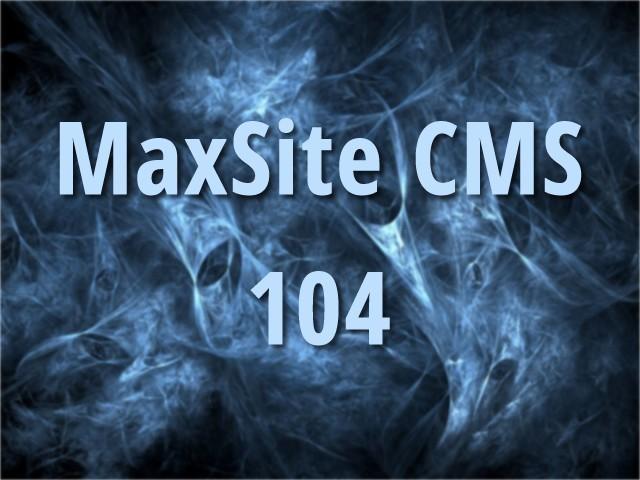 MaxSite CMS 104