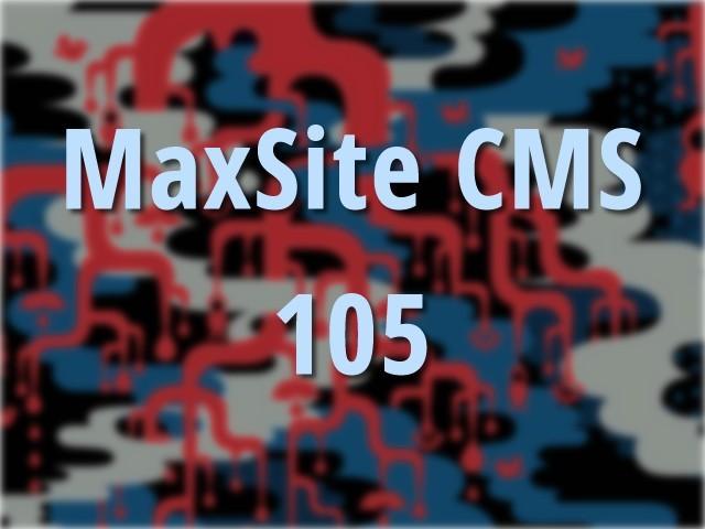 MaxSite CMS 105