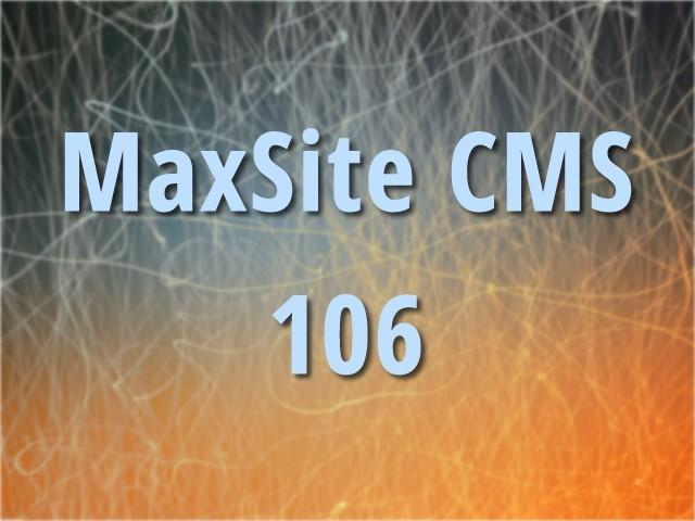 MaxSite CMS 106
