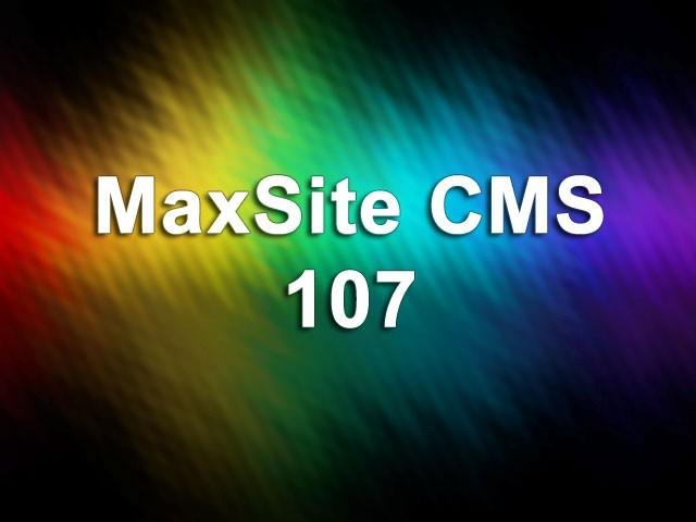 MaxSite CMS 107
