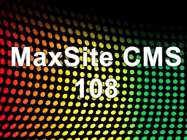 MaxSite CMS 108